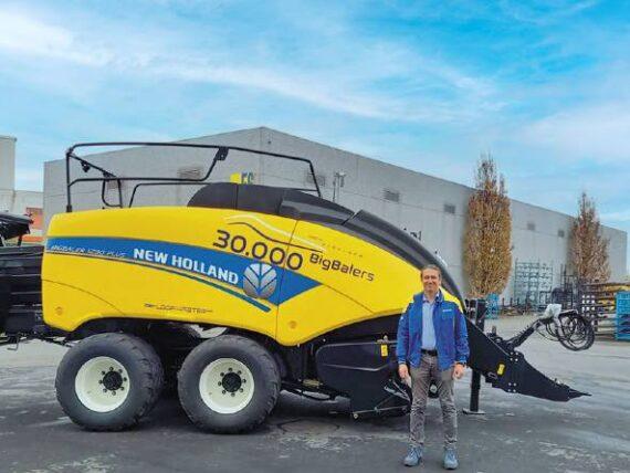New Holland Agriculture:  hito de 30.000 empacadoras gigantes fabricadas
